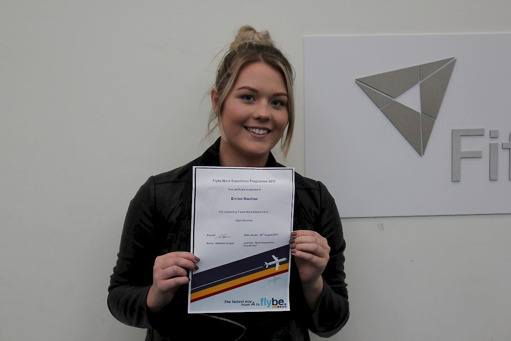 HNC Travel and Tourism student Emilee Wardlaw
