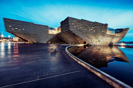 V&A Dundee designed by Kengo Kuma, credit: Ross Fraser McLean
