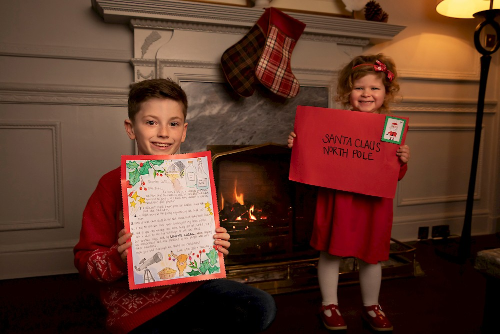 Jessica Roer (aged 3) and Seb Kwiecinska Randall (aged 9) help launch VisitScotland's new festive Love Local campaign at The Balmoral, by sharing their letter to Santa full of fantastic local experiences for all the family. The national tourism organisation is asking the public to 'love local' this Christmas and support tourism during the COVID-19 pandemic.
